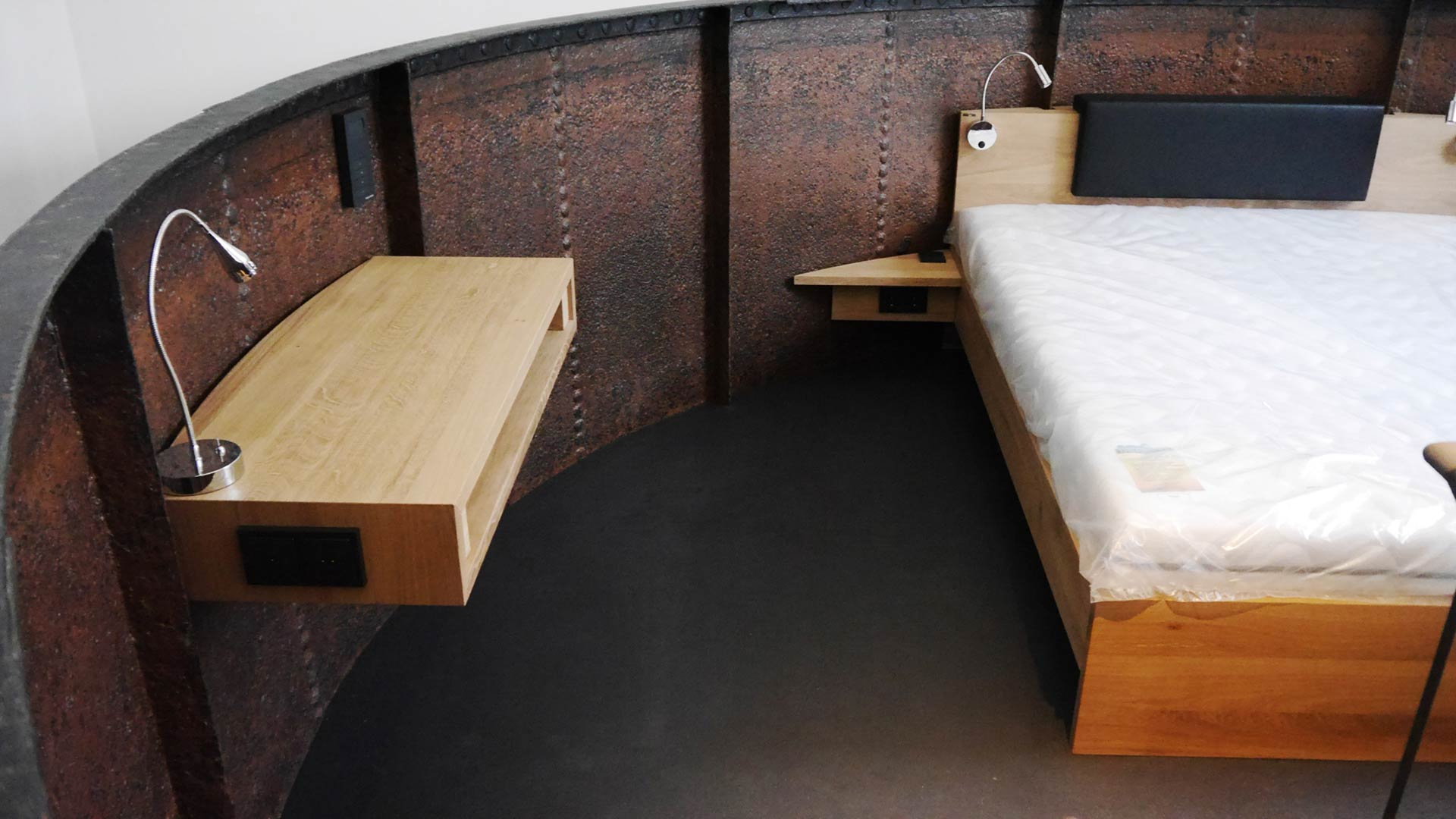 Innenausbau auf kleinstem Raum: Die Tower Suite hat alles, was es braucht.