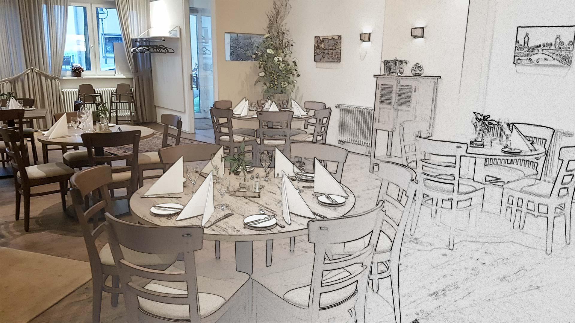 Restaurant Pfalzgraf in Ludwigshafen: Planung und Umsetzung aus einer Hand