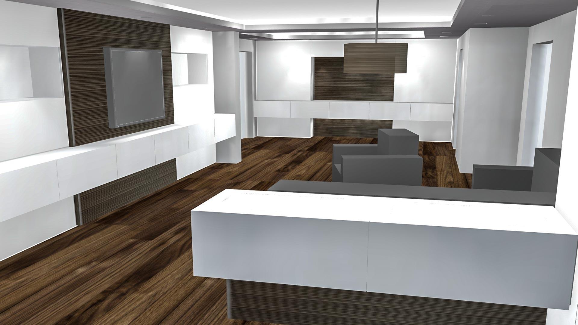Details wie Oberflächen und Lampen sind in unserer 3D-Zeichensoftware schnell Ihren Wünschen angepasst
