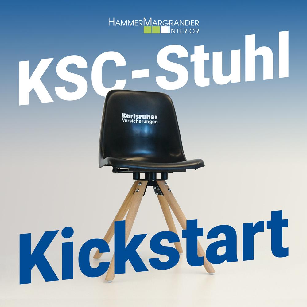 Jetzt vorbestellen: Machen Sie Ihre Sitzschale zum KSC-Stuhl