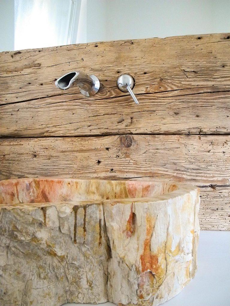 Waschtisch mit Altholzbalken | Referenzen | Hammer Margrander Interior