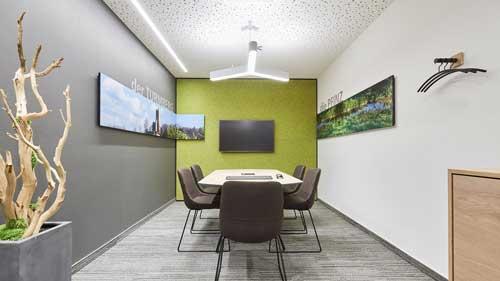 Besprechungszimmer in der Volksbank Regionalfiliale Karlsruhe Durlach - Projektkategorie Büro & Geschäftsräume