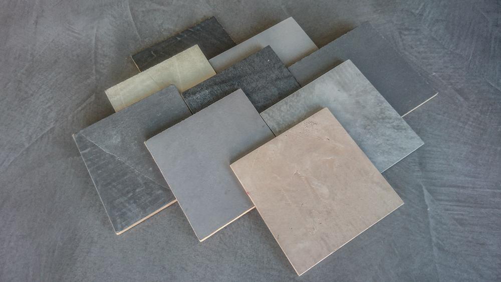 Den polymermodifizierten Betonputz gibt es in unzähligen Farbvarianten