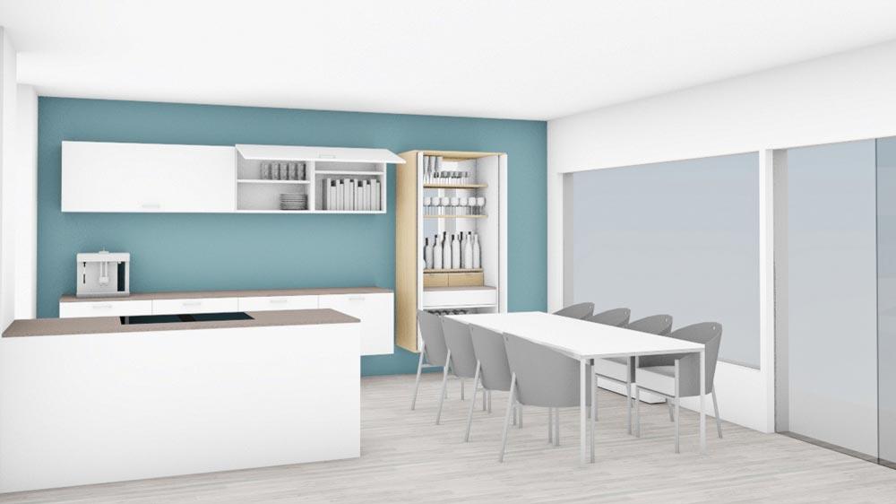 3D-Visualisierung erlaubt die Simulation der Küche und die detaillierte Planung am digitalen Modell