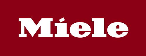 Das offizielle Miele Firmenlogo auf rotem Grund