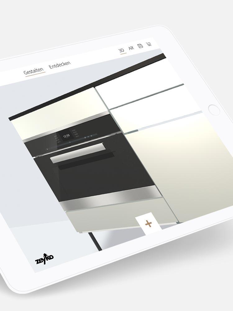 Erweitern Sie die Optionen des Konfigurators durch die individuellen Leistungen von Hammer Margrander Interior