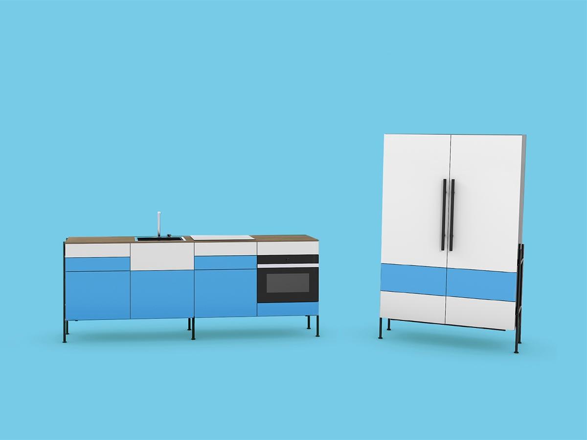 Die 60cm breiten Einheiten machen zeykoRACK kompatibel mit den meisten Standard-Küchengeräten