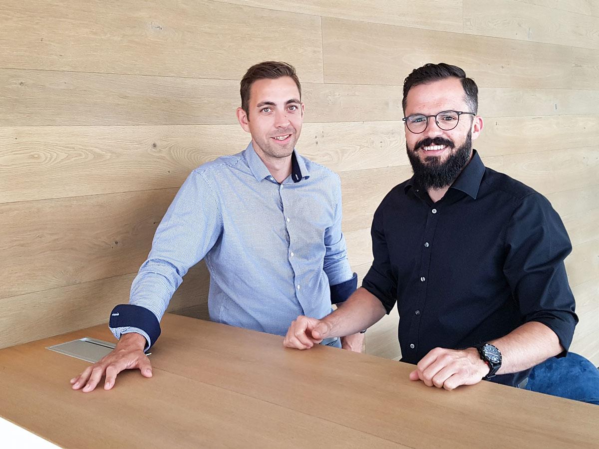 Dannny Hammer und Siegfried Margrander, die Geschäftsführer