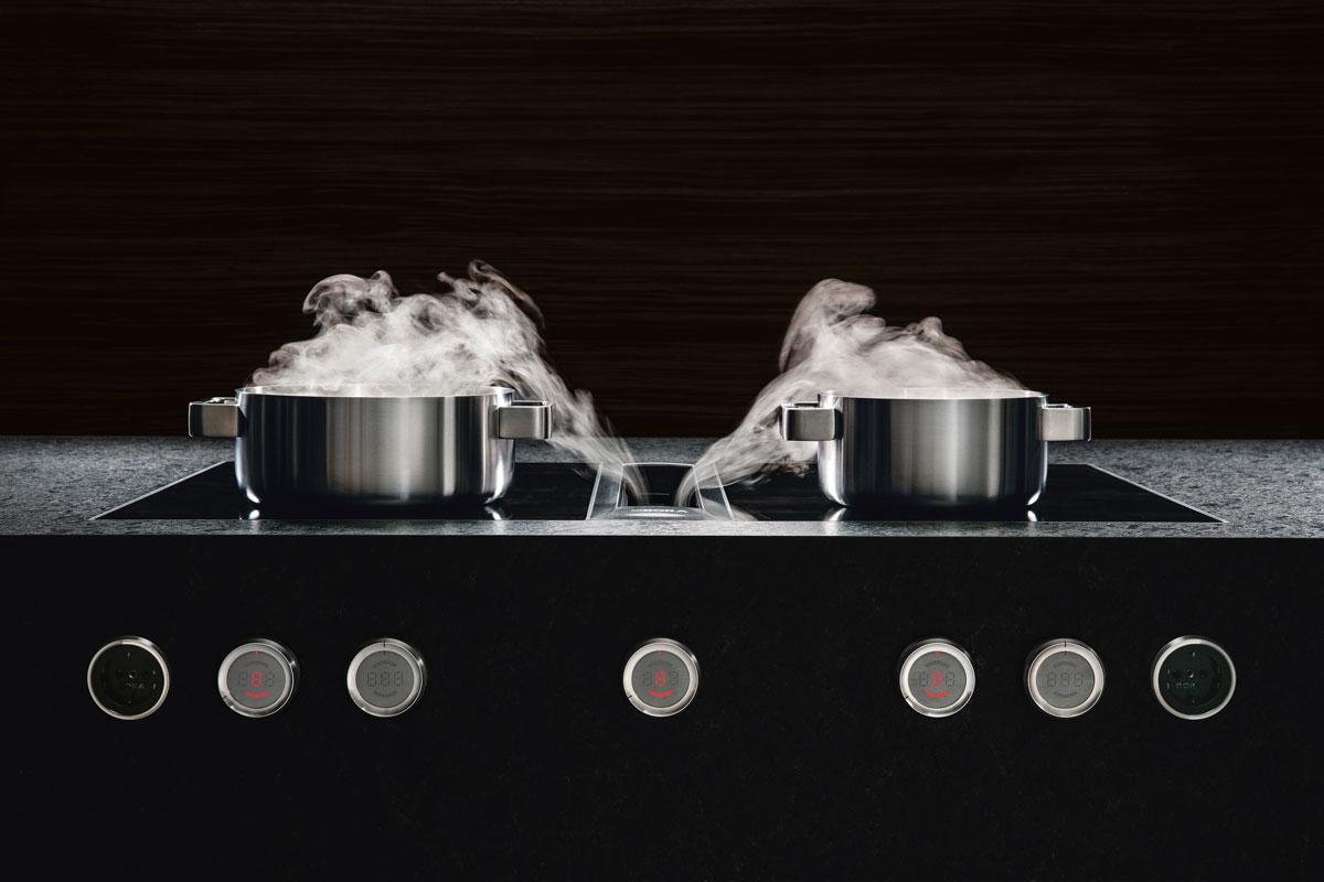 Der Kochdunst verschwindet noch bevor er Ihre Nase erreicht.