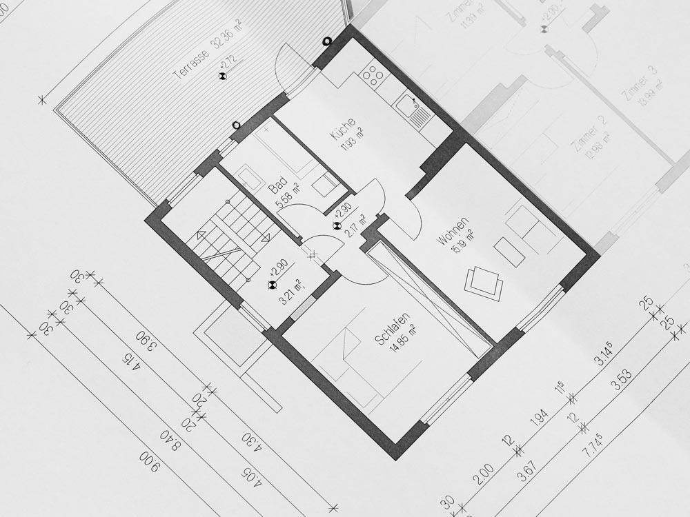 Je mehr Details Sie zu den räumlichen Gegebenheiten ermitteln, desto einfacher die Planung. Liegt bereits ein Grundriss vor, ist dieser Punkt besonders einfach.