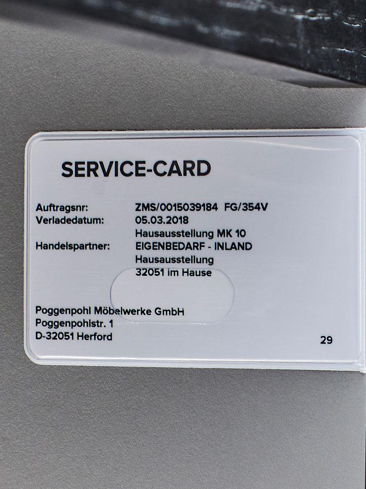 Die Service-Card in Ihrem Spülenschrank. Der Schlüssel zu lebenslangem Support.