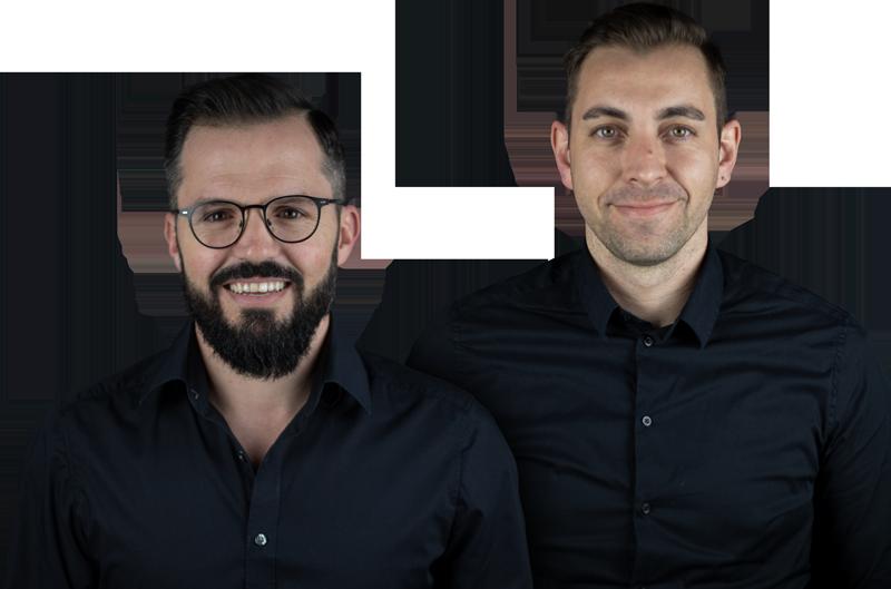 Danny Hammer und Siegfried Margrander, Geschäftsführer