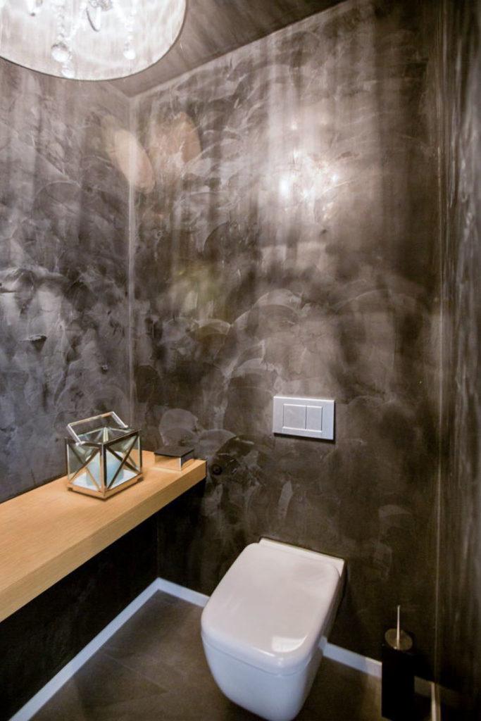 Gaste Wc Mit Wandgestaltung In Spachteltechnik Referenzen Hammer Margrander Interior
