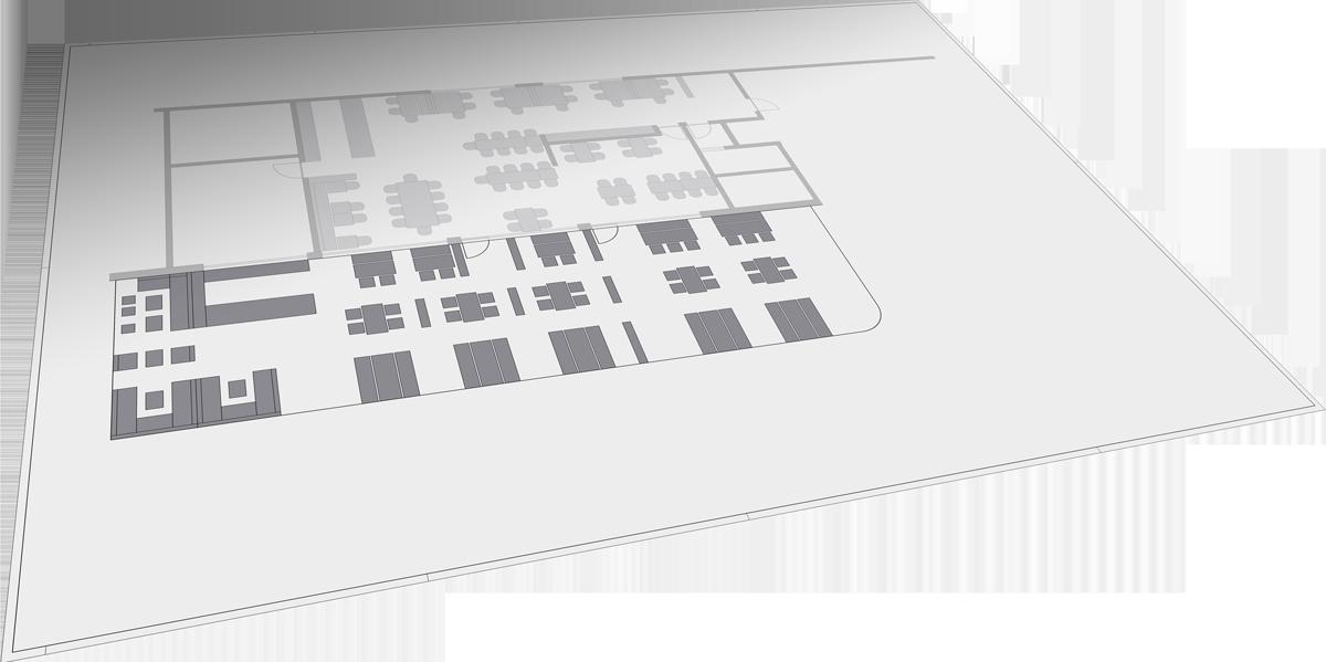 Zeichnung Außenbestuhlungskonzept