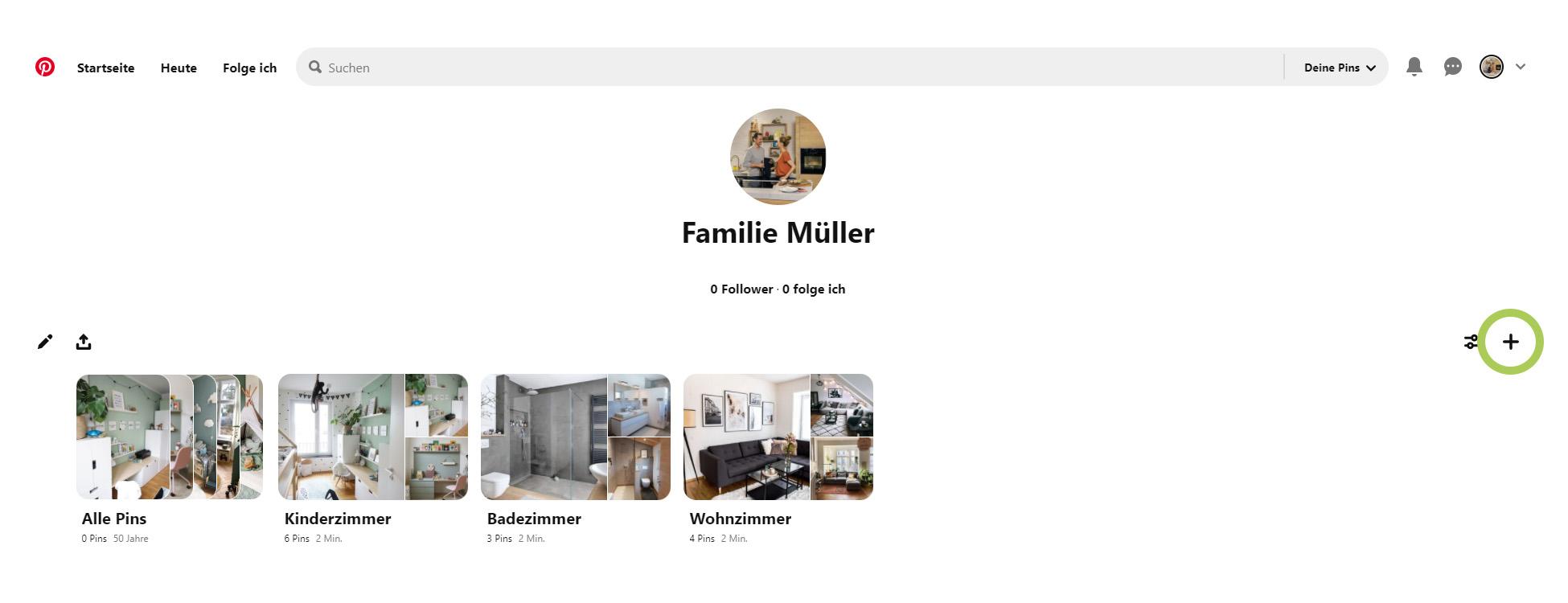Pinterest Profil - Pinnwand erstellen