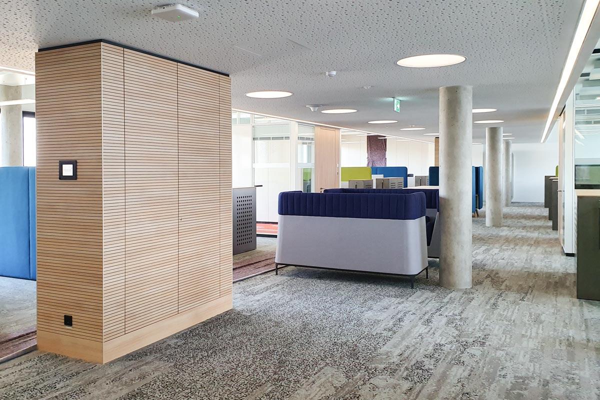 Lichtplanung in den Geschäftsräumen der Fiducia & GAD IT GmbH