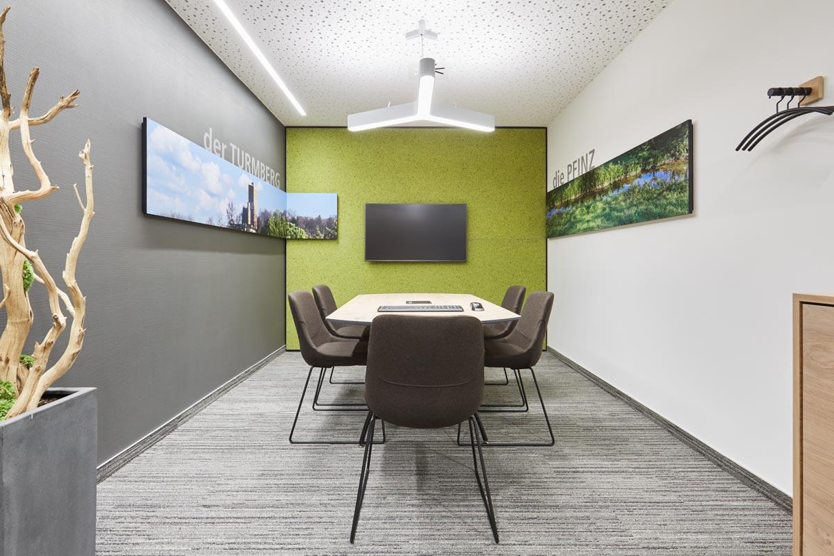 Besprechungsraum in der Volksbank Regionalfiliale Karlsruhe Durlach