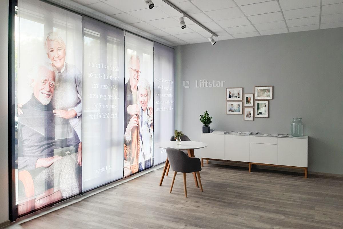 Vinylfußboden im Liftstar Mobilitätszentrum Karlsruhe