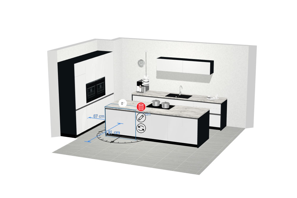Screenshot aus Online-Küchenplaner