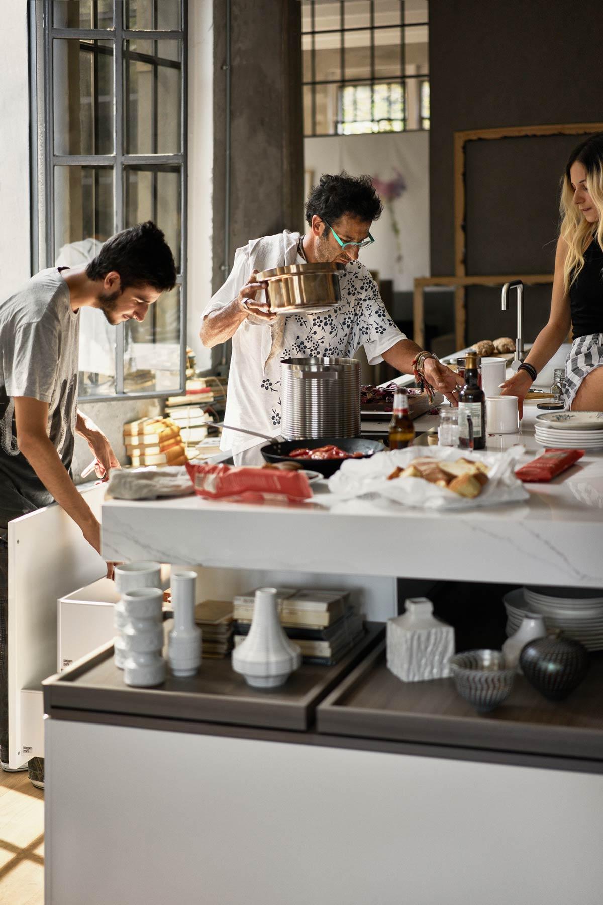 Das Insel-Layout ist ideal zum gemeinsamen Kochen