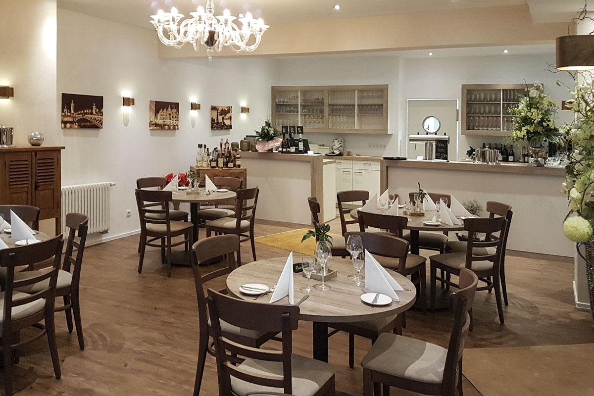 Tische im Restaurant Pfalzgraf