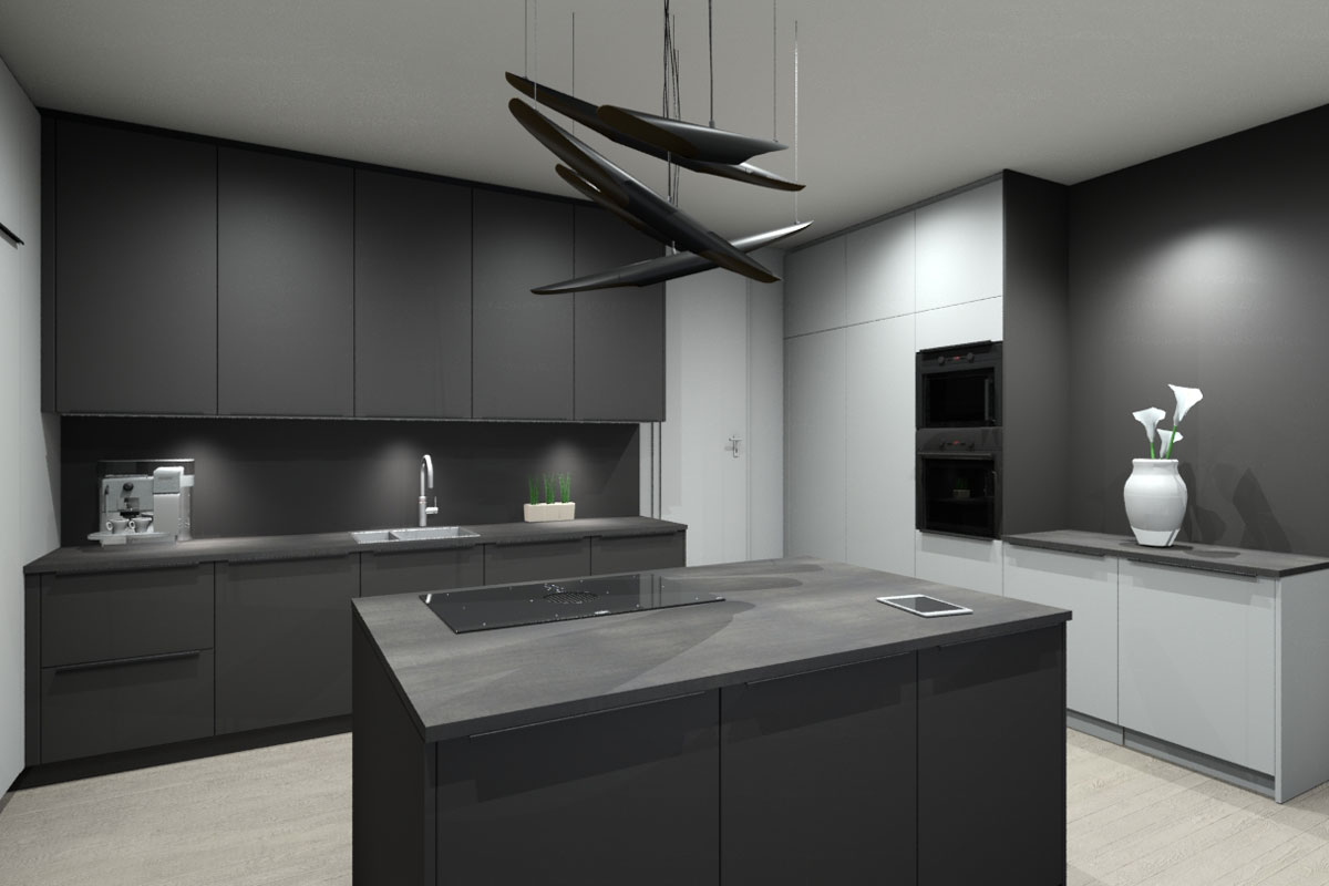 Premiumküchen-Visualisierung