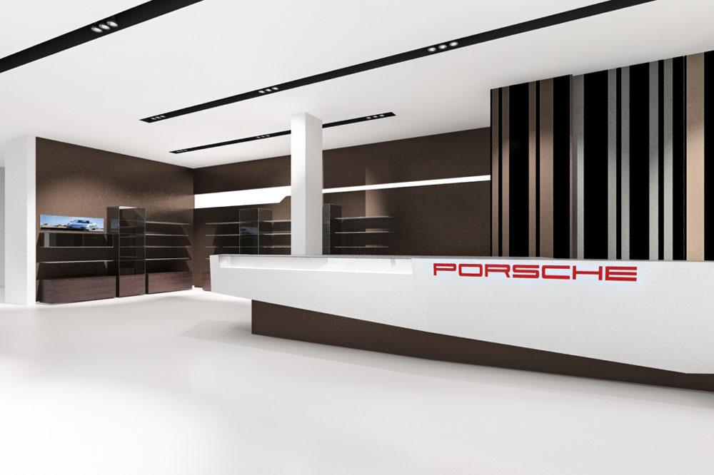 Visualisierung des Shops im Porsche Museum Stuttgart