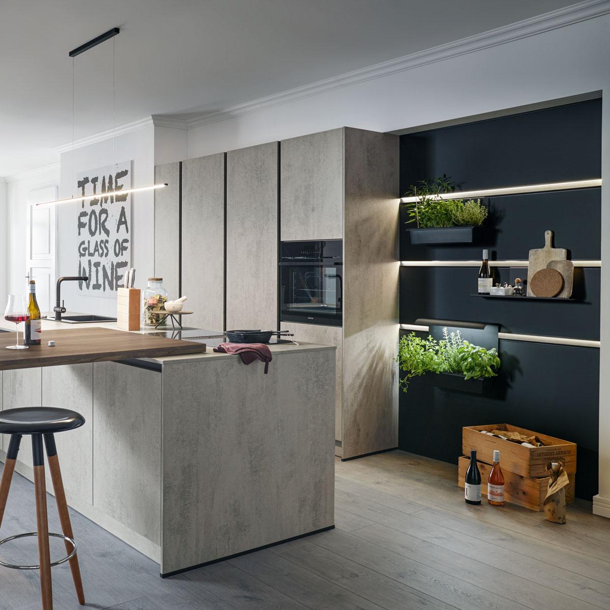 Küche mit Paneelsystem