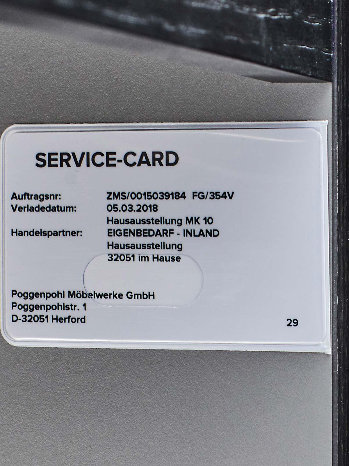 Premium ist hier Standard: Die Poggenpohl Service-Card