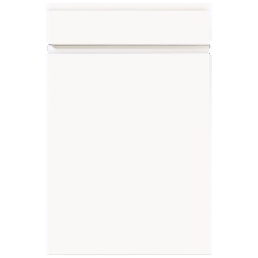 Front modern weiß mit Griffmulden