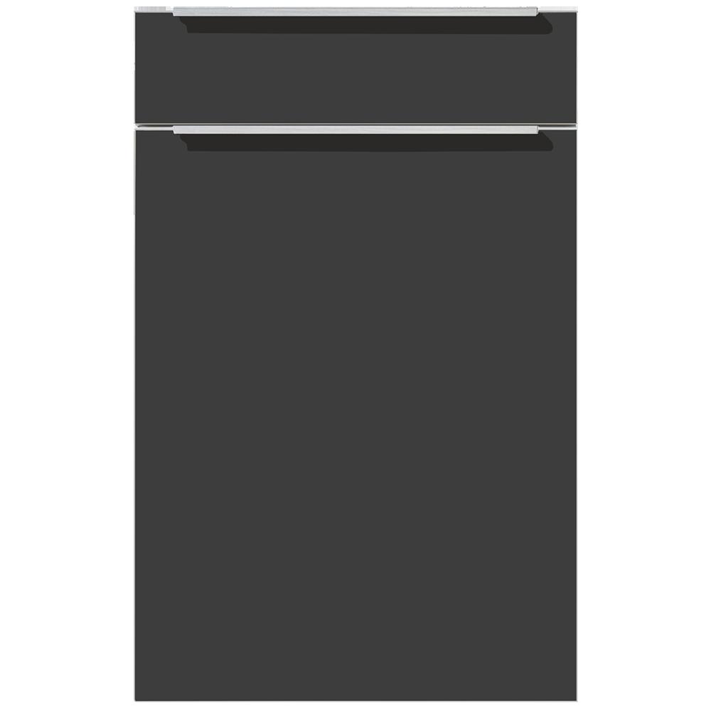 Front modern schwarz mit Griffleisten