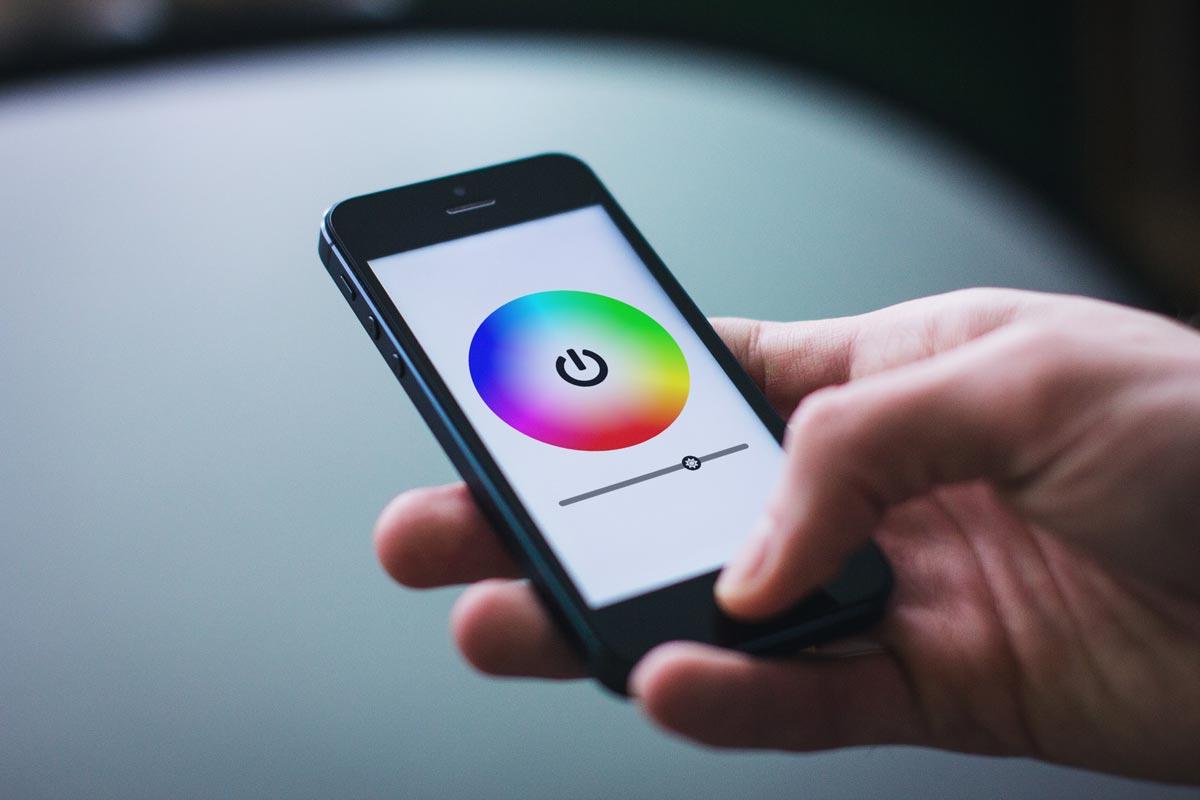 Lichtsteuerung via Smartphone