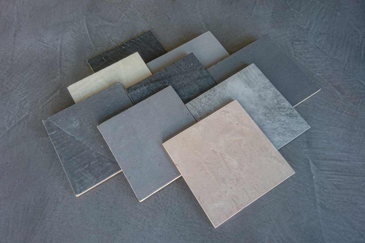 Der Betonputz ist in verschiedenen Farbvarianten erhältlich