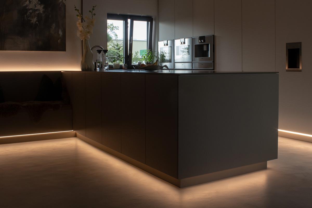 Indirekte Beleuchtung in der Küche
