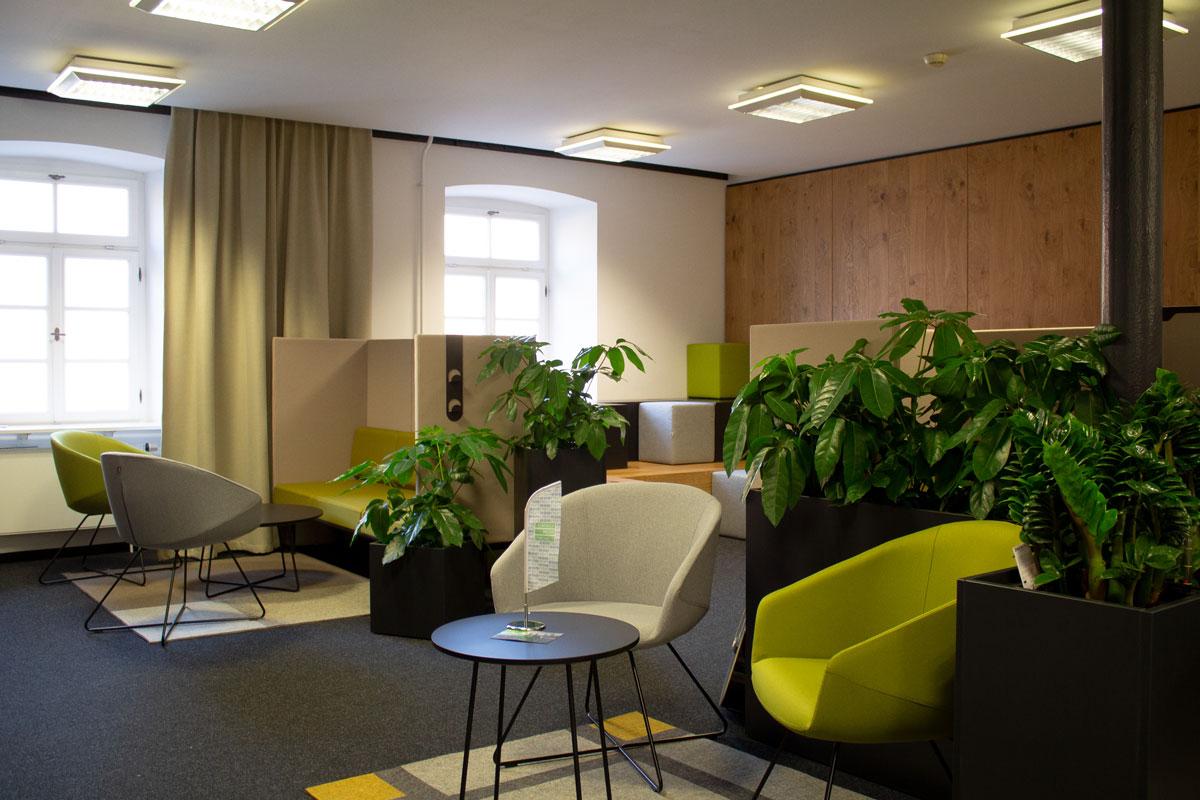 Eine neue Lounge für die Büroräumlichkeiten von esentri