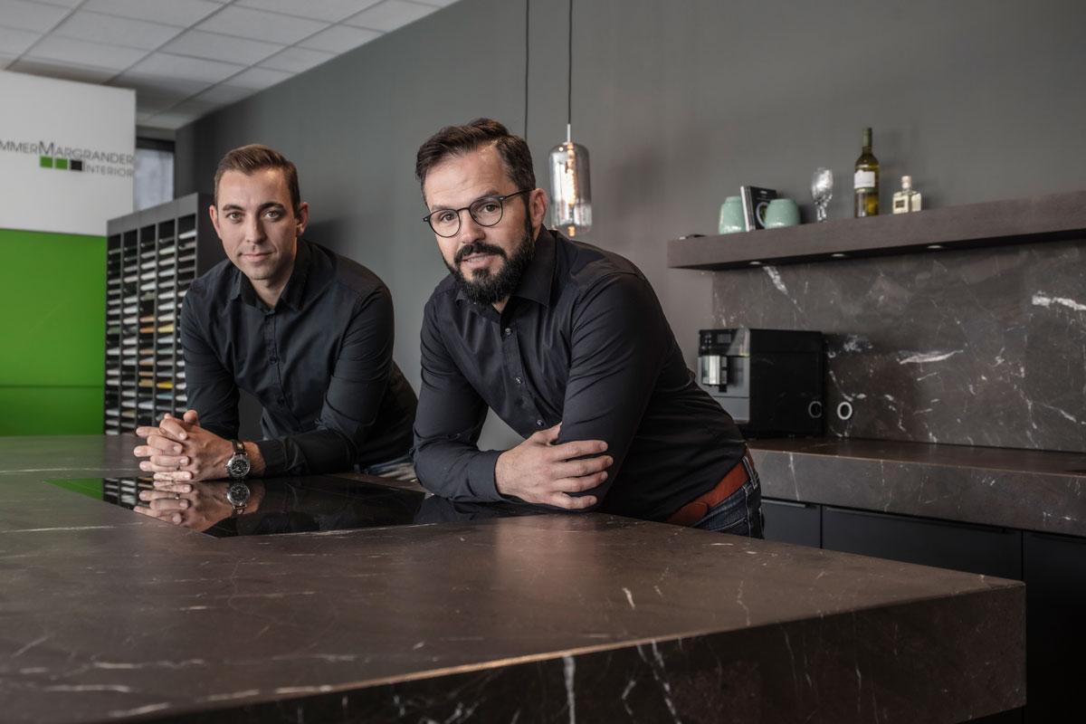 Geschäftsführer Danny Hammer und Siegfried Margrander
