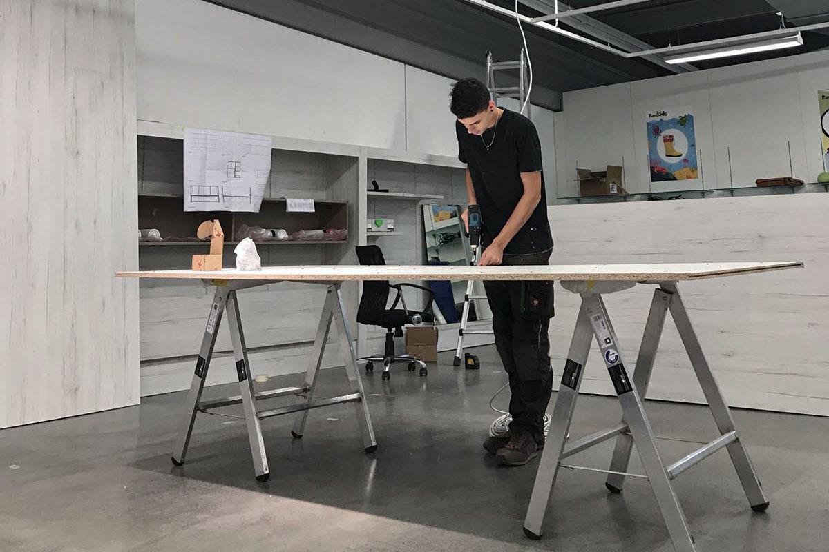 Montage auf der Baustelle