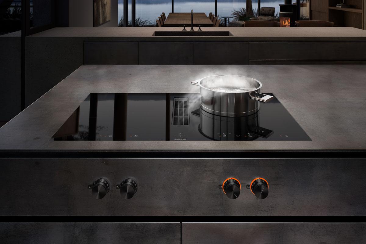 Integrierter Kochfeldabzug