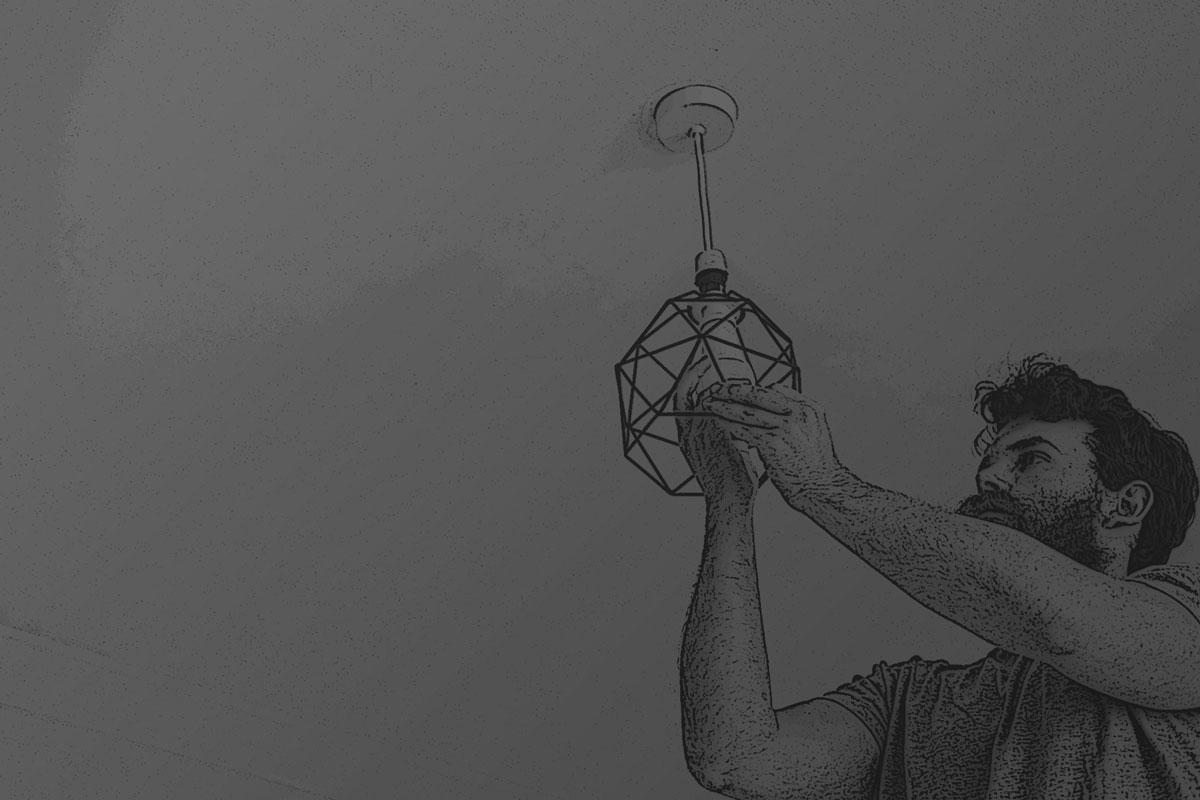 Lampen-Installation