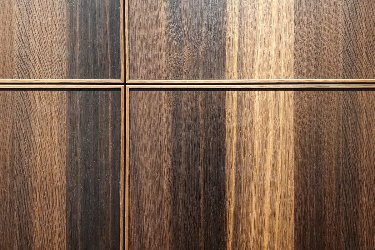 Die neuen Holzfronten mit Profilrahmen